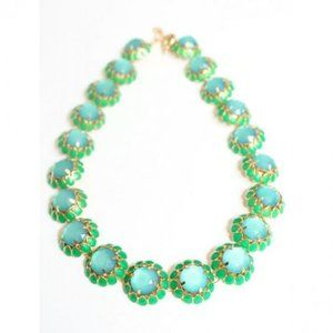 J Crew Crystal Statement Necklace Blue/Green
